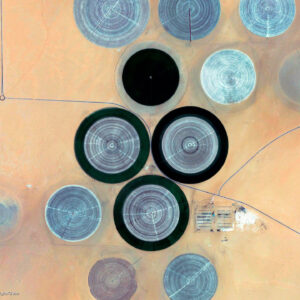 Irrigation circles of the Sahara Desert